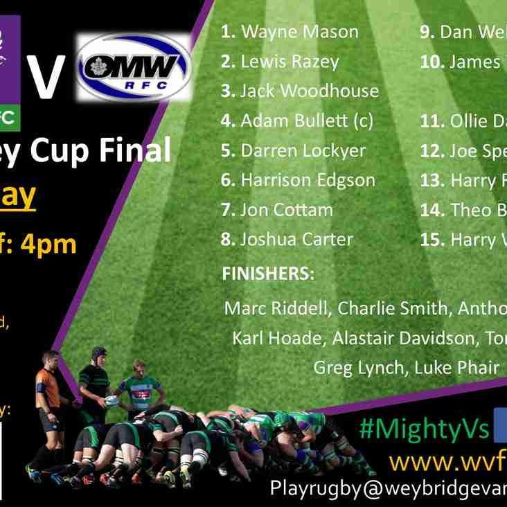 Surrey Cup Final - Vandals Seniors v Old Mid-Whitgiftians RFC