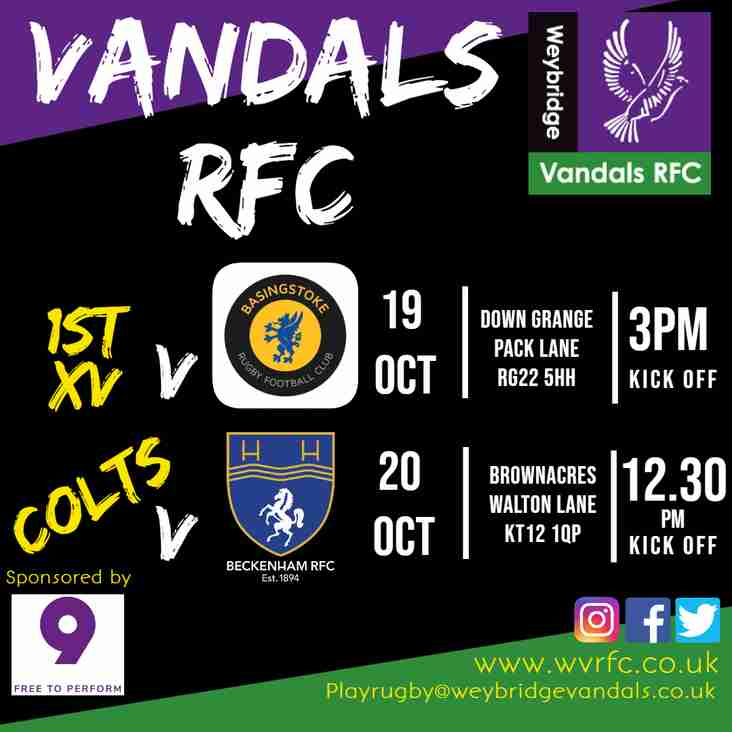 Game week 5 - come support your Vandals teams