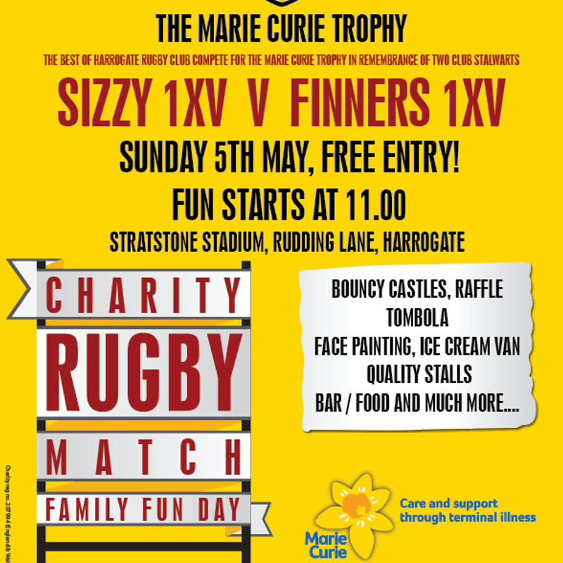 Marie Curie Charity Rugby Match and Family Fun Day-Sunday 5th May