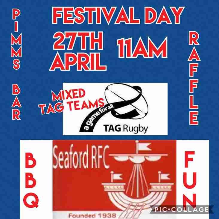 Festival day 27th April.