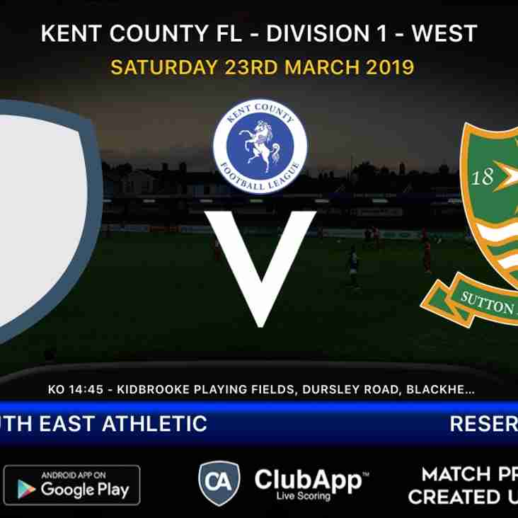 Reserves travel to South East Athletic
