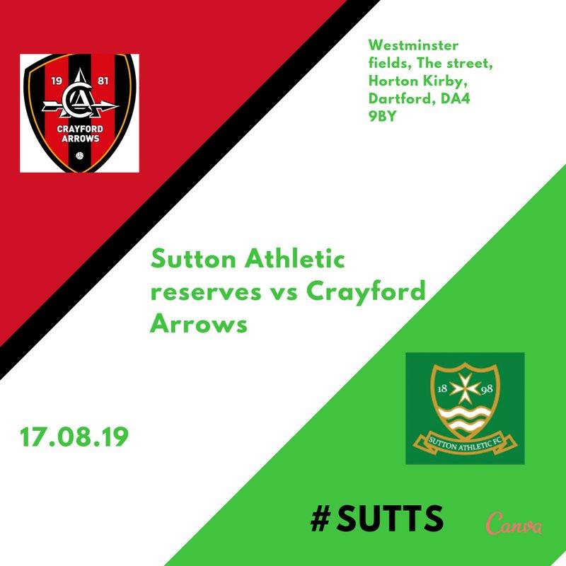 Reserves play Crayford Arrows