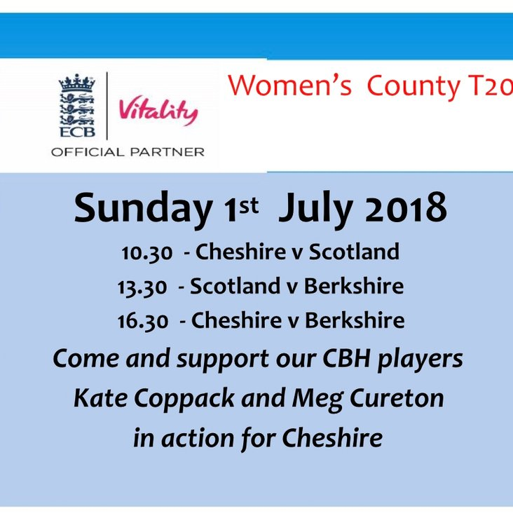 Chester Women T20 at Chester on Sunday<