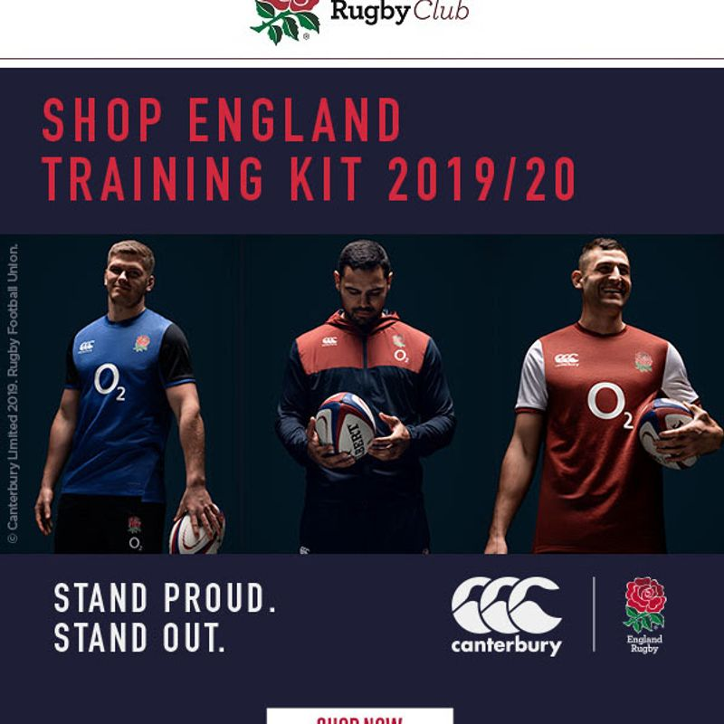 Mens' England Rugby Training Kit
