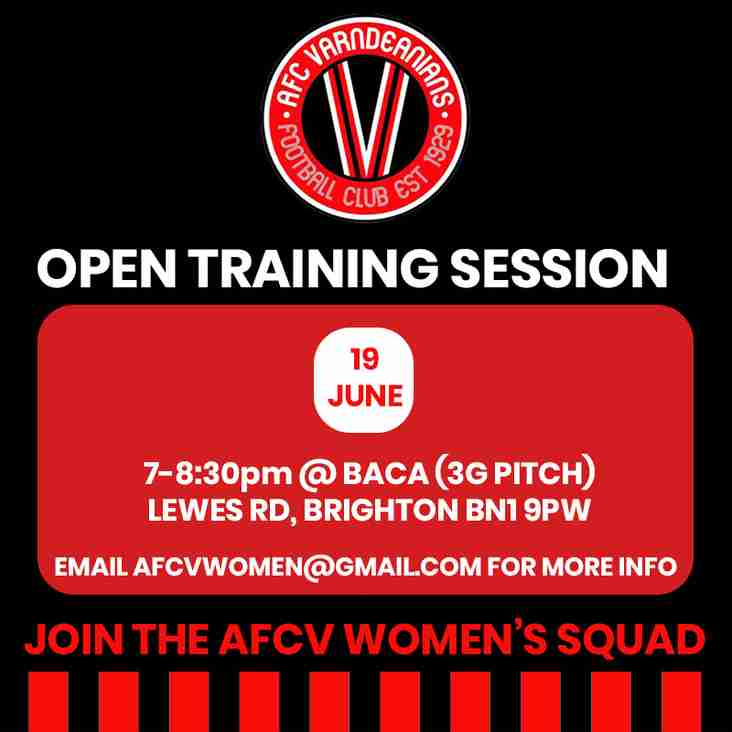 AFC Varndeanians Women's Open Training Session