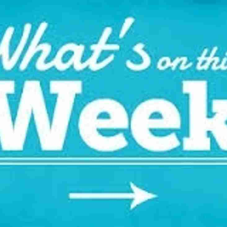 What's on this week