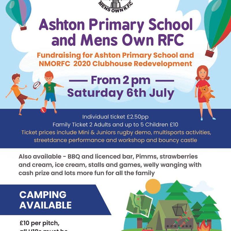 Mens Own RFC & Ashton Primary School fun day