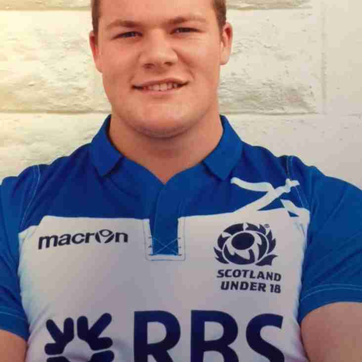 MURRAY MAKES SQUAD FOR  SCOTLAND U20 WORLD RUGBY CHAMPIONSHIP