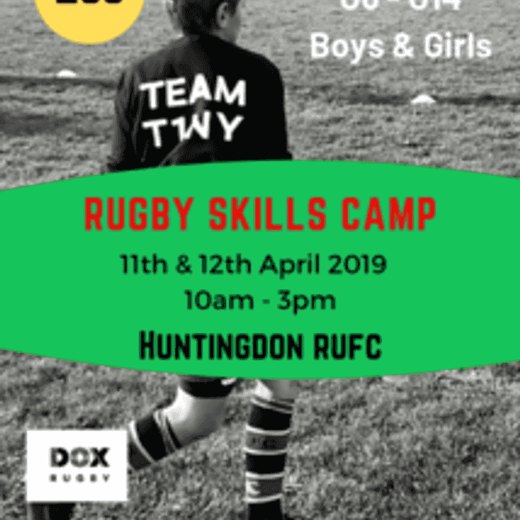 Rugby Skills Camp - 11th & 12th April 2019