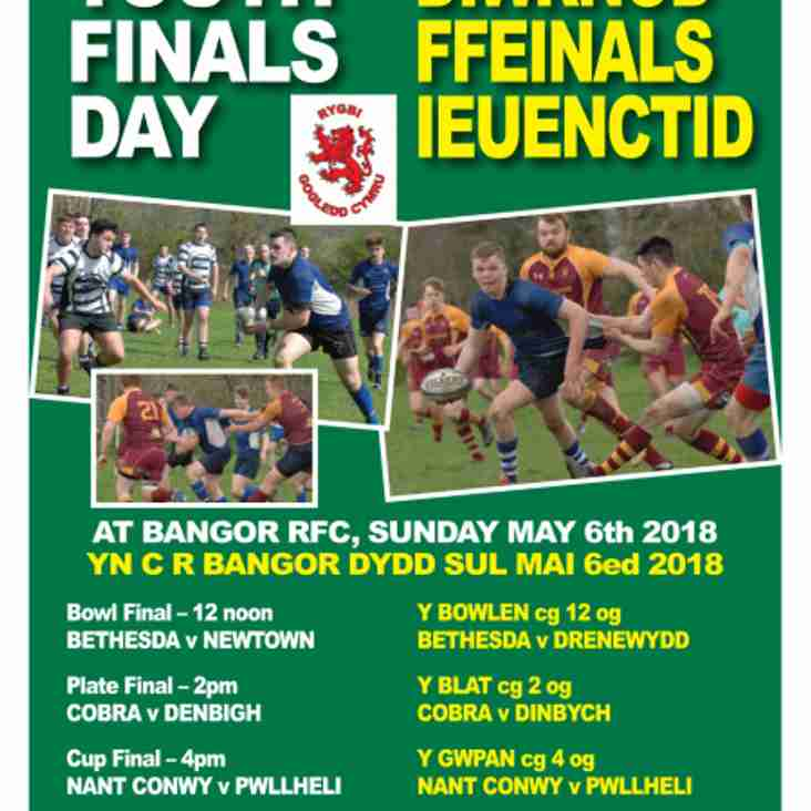 Triple header of North Wales Youth Finals this Sunday