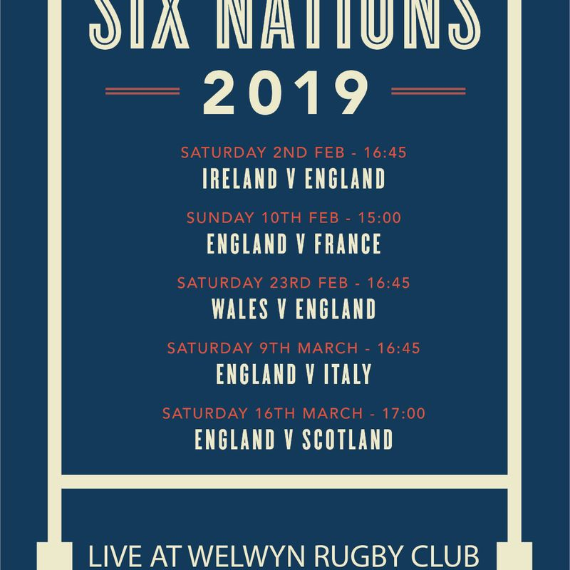 Six Nations Live at Welwyn Rugby Club