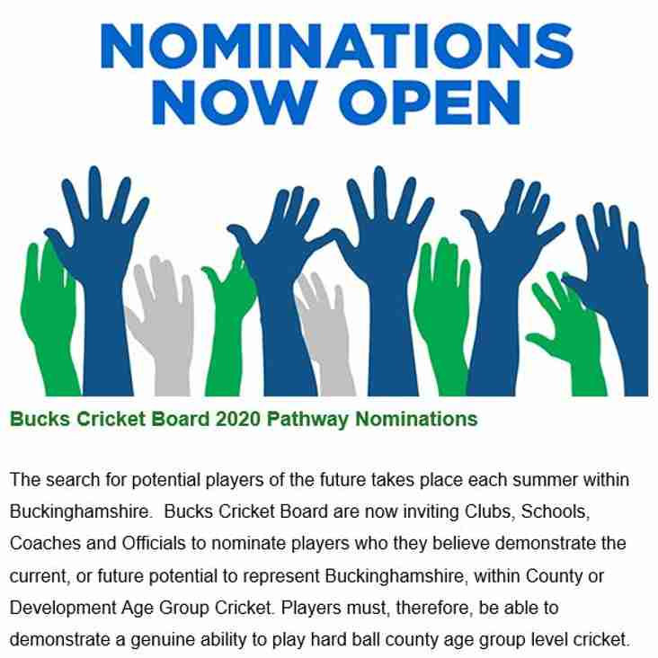 Bucks Nominations IN