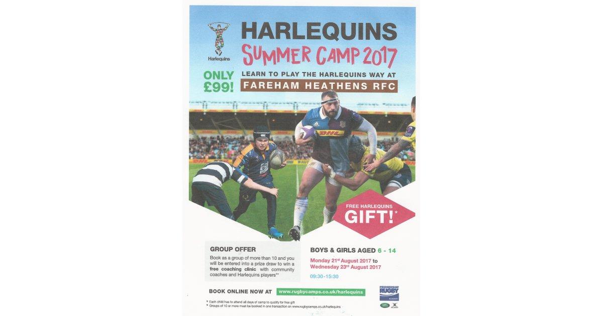 Harlequins Summer Camp at Fareham Heathens RFC - Fareham