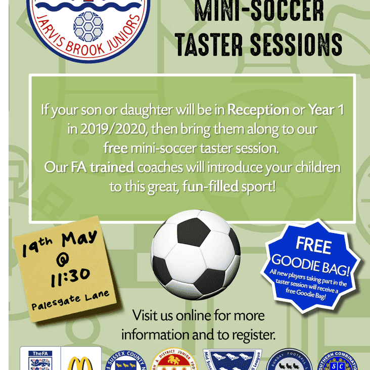 U5/U6 Taster Session - 19th May