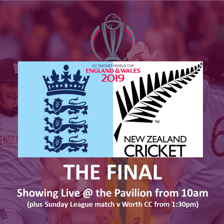 Join us at the Club for the CWC Final