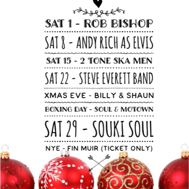 Great Entertainment at the Linden Club this December<
