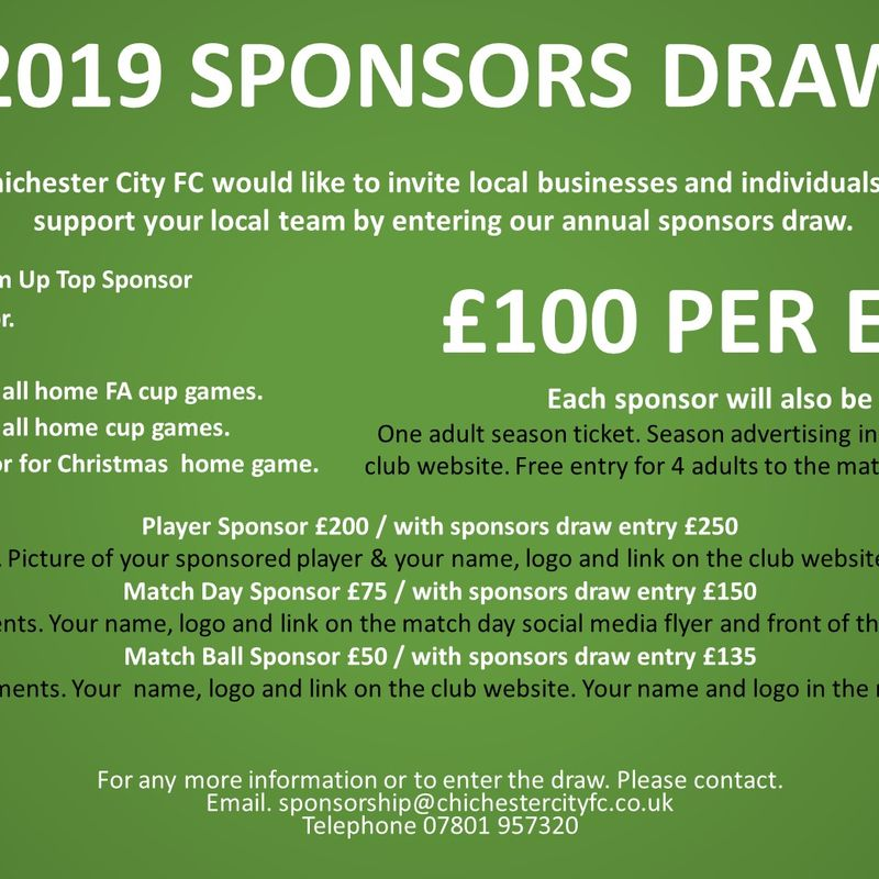 2019 Sponsors Draw