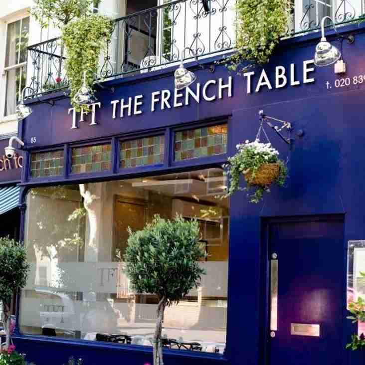 THE FRENCH TABLE BECOMES  A COBHAM FC  PARTNER