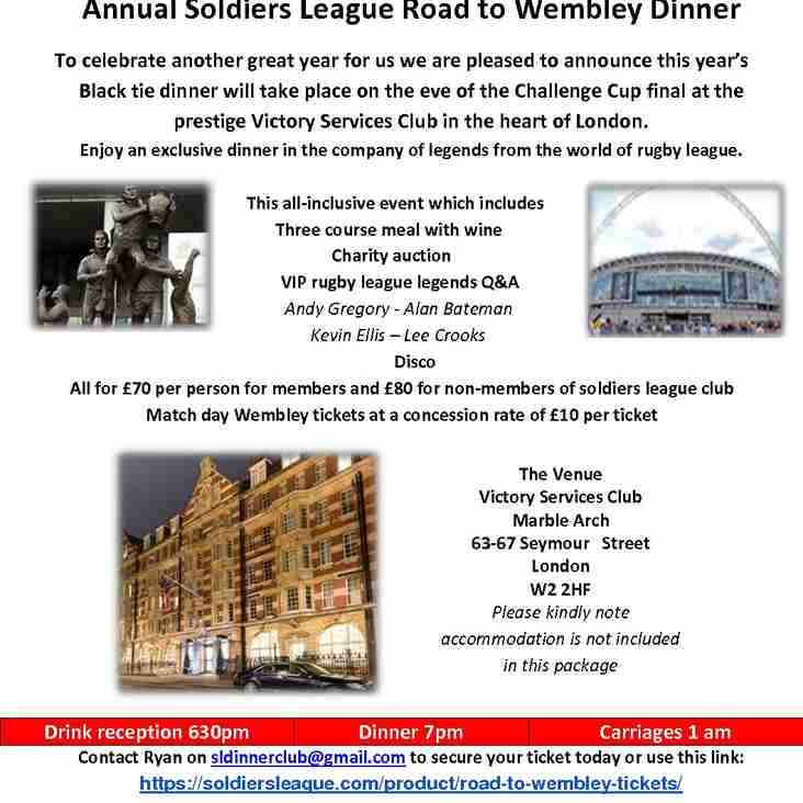 SOLDIERS LEAGUE ANNUAL BLACK TIE DINNER 2019