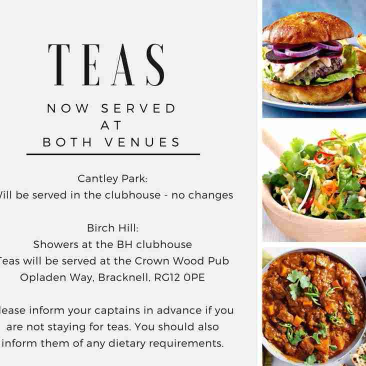 Teas are now served at BOTH venues, wahoo!