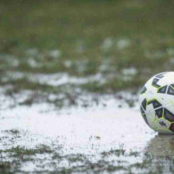 Ossett Town v Tadcaster Albion - Game OFF - Waterlogged Pitch