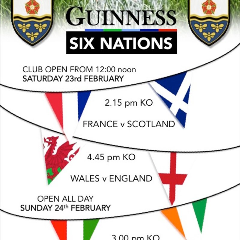 6 NATIONS ROUND 3 - ON THE BIG SCREEN @ BRUFC !