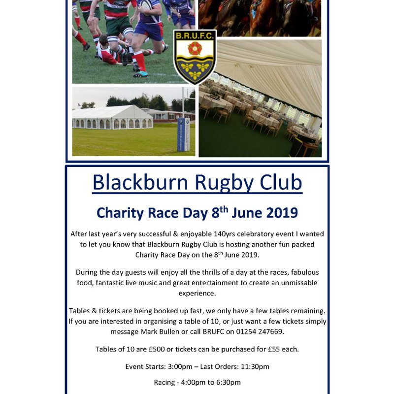 BRUFC RACE DAY SATURDAY 8th JUNE !