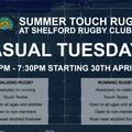 Casual Touch Rugby over the summer
