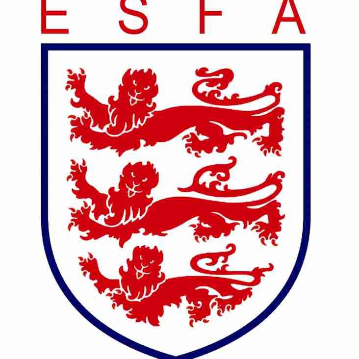 Under 13's progress to ESFA Quarter Final