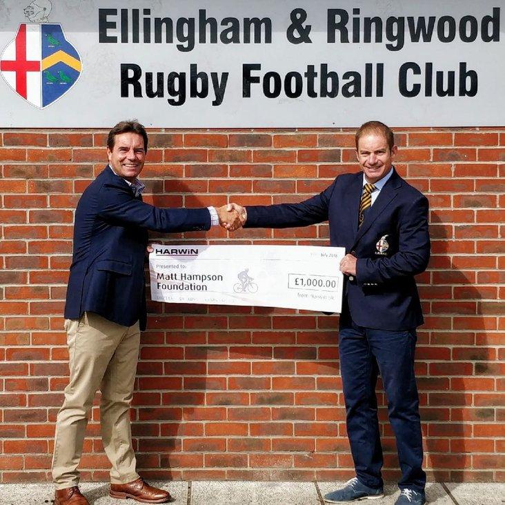 Our chairman raises over £5,000 for the Matt Hampson foundation<