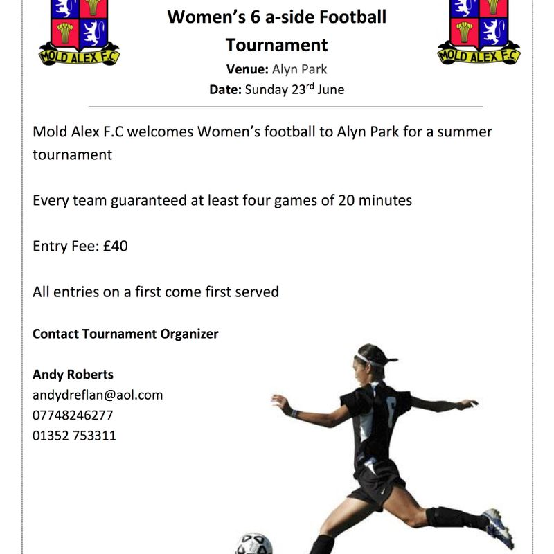 Mold Alex Ladies Tournament Announced For 2019