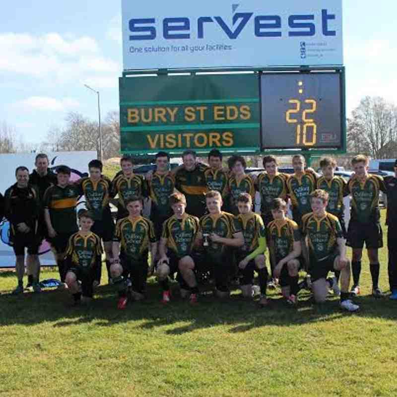 BSE U15 Suffolk Cup Winners 2015