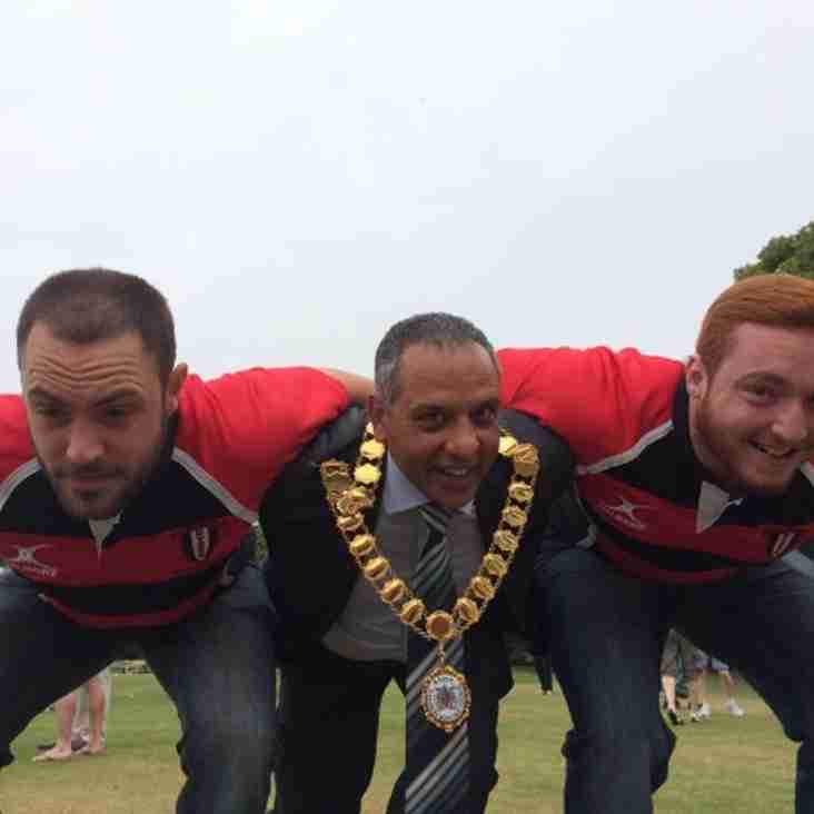 Dartford 'Valley' RFC Supports MP's 11 Charity Cricket match.