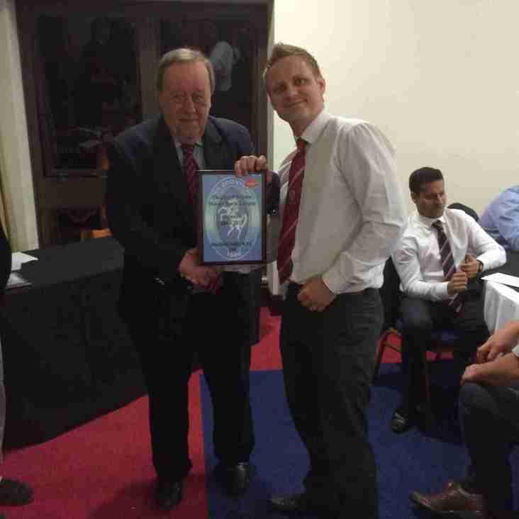 RFU President Presents Trophy to Club