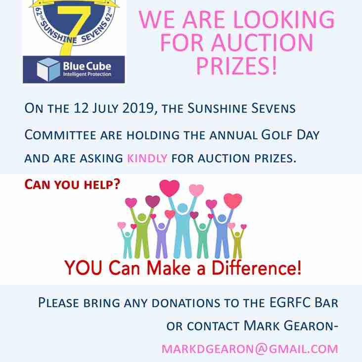 WE ARE LOOKING FOR AUCTION PRIZES!