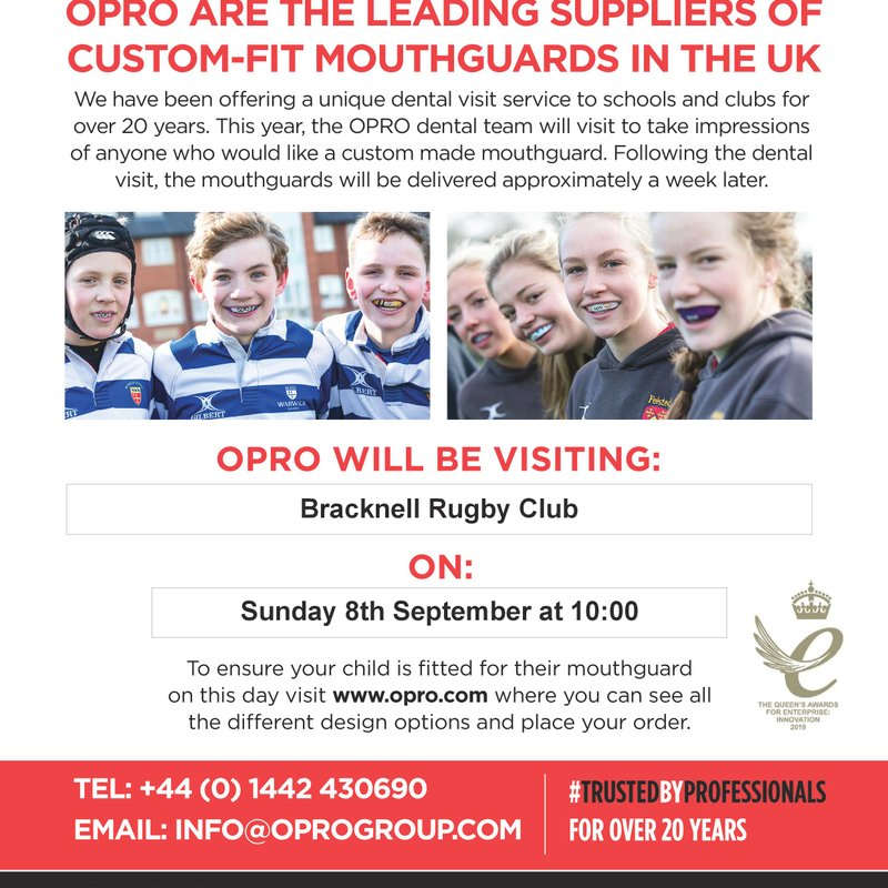 Fitting day OPRO mouth guards