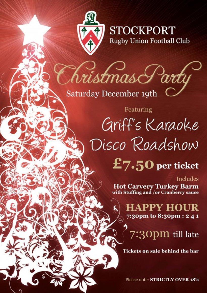Karaoke Christmas Party.Christmas Party Karaoke 19th December News Stockport Rufc