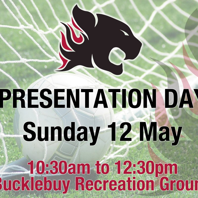 Presentation Day - Sunday 12 May 2019 - 10:30am
