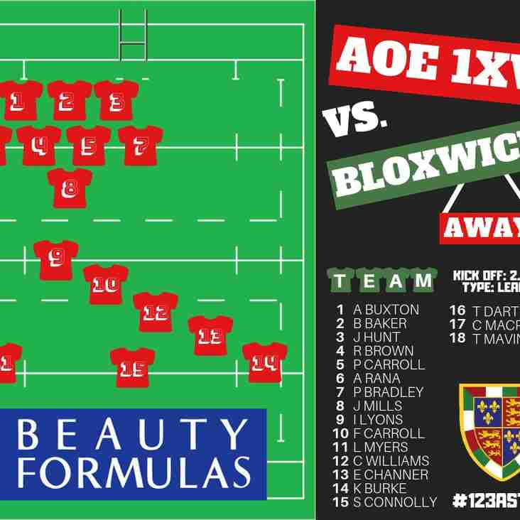 WEEKEND FIXTURES & 1XV TEAM RELEASE