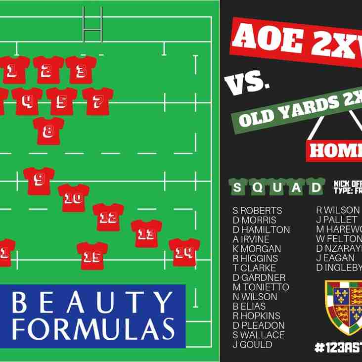 WEEKEND FIXTURES & 2XV SQUAD RELEASE