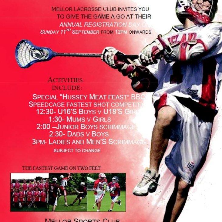 Mellor Lacrosse Club Registration Day<
