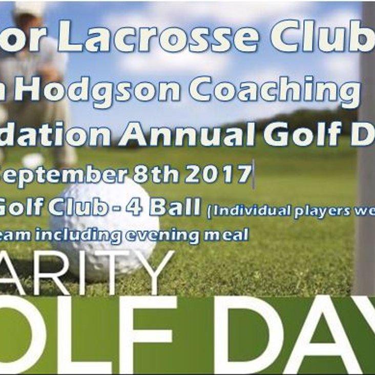 Robin Hodgson Coaching Foundation Annual Golf Day - Friday September 8th 2017<