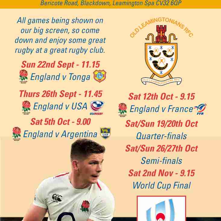 Rugby World Cup Action at OLRFC