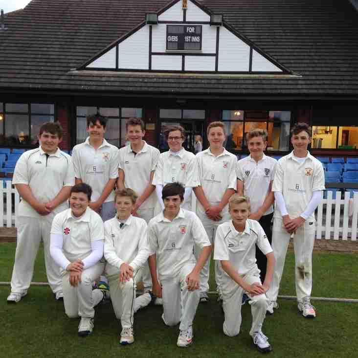 Shropshire Champions Bridgnorth U15s beat Staffs Champions Himley CC
