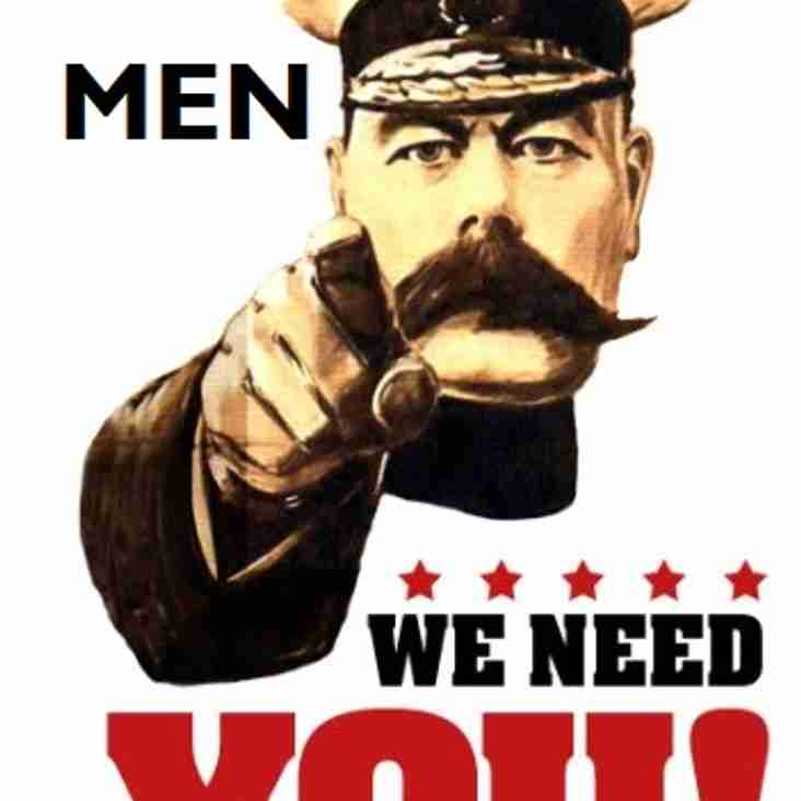 North Shields HC are on the look out for Male players of all abilities