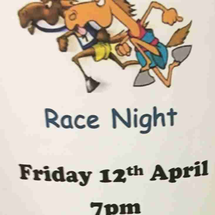 Friday 12 April, 7pm at Hove Rugby Club - Race Night to raise funds for U15s Tour