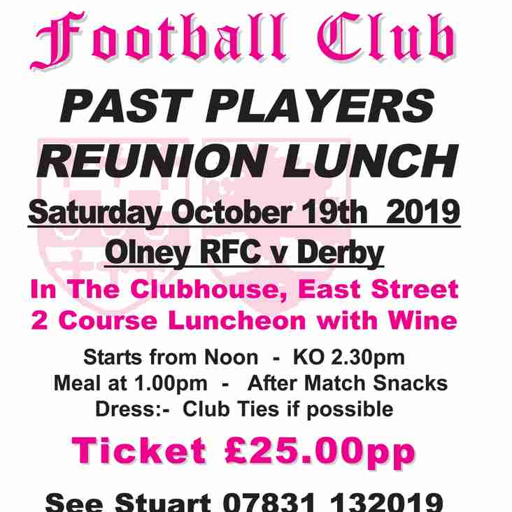 Past Players Reunion Lunch 2019