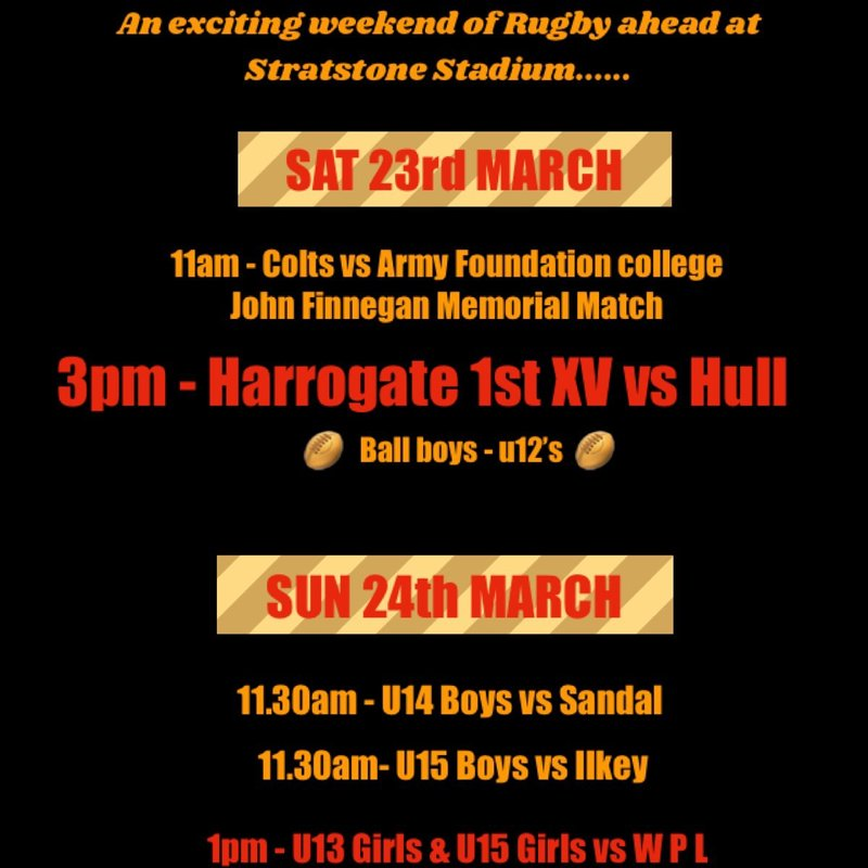 CHALLENGING GAMES AHEAD AT HARROGATE RUFC