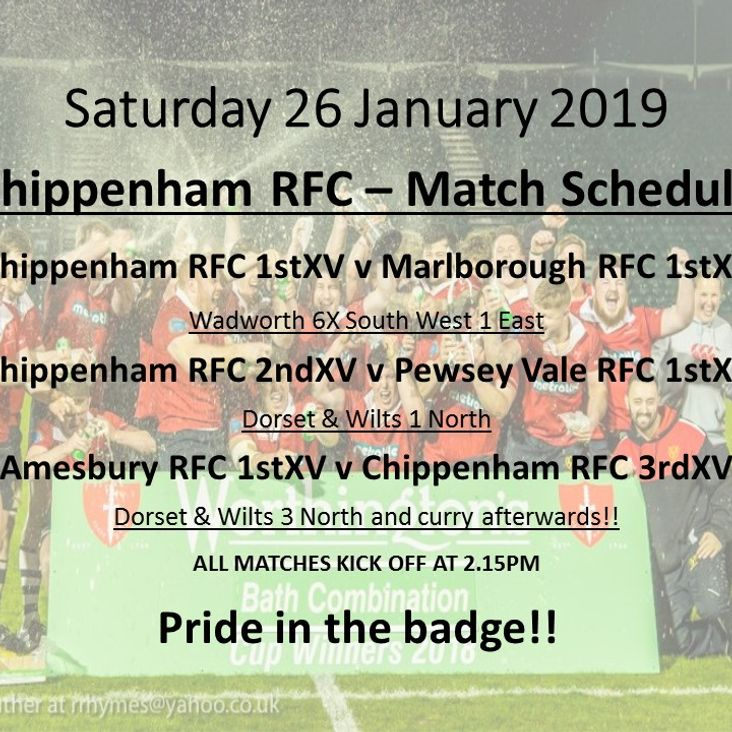 Busy Saturday at Chippenham RFC <