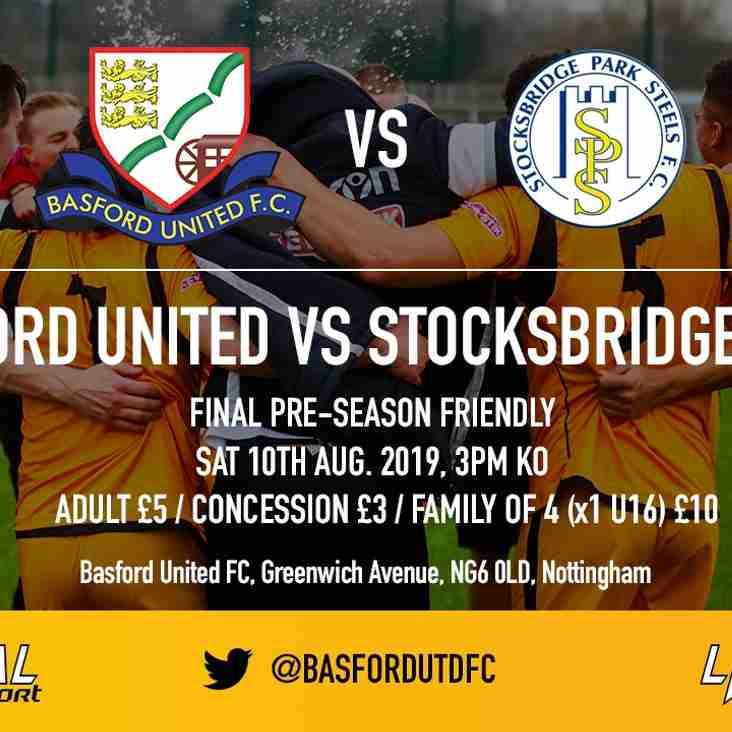 Basford welcome Stocksbridge PS for final preseason friendly